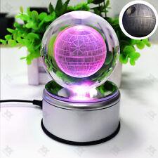 Star Wars Death Star 3D palla di cristallo LED Luce Notturna  Lampada Regalo