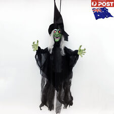 Hanging Animated witch move laugh light up eyes Halloween Prop party-AU