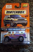Matchbox 1998 CHEVY VAN SNACK TRUCK  #96.