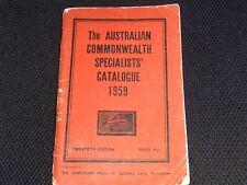 The Australian Commonwealth Specialists' Catalogue 1959: Twentieth Edition