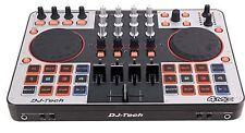 DJ-Tech - 4MIX - 4-Channel Controller w/ Audio Interface + Virtual DJ LE