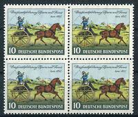 4 x Bund 160 sauber postfrisch Viererblock VB Tag der Briefmarke BRD 1952 MNH