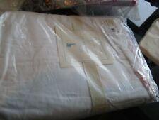 Pottery Barn Kids Scallop full bedskirt bed skirt white pink trim New