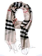 Free shipping light weight soft scarf plaid Apricot- Quality Assured