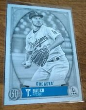 2021 Gypsy Queen Black & White Serial # 50/50 Trevor Bauer Los Angeles Dodgers