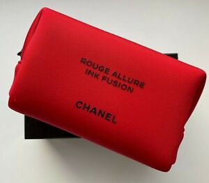 CHANEL COSMETIC/MAKEUP BAG POUCH CLUTCH RED mini rouge allure le 2019 VIP GIFT