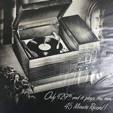 Philco Record Player Magazine Print Ad Vintage Original Electronics Household