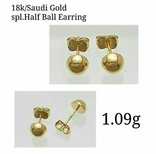 Gold Authentic 18k saudi gold baby  earrings.