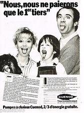 PUBLICITE ADVERTISING 055  1982  CUENOD   les pompes à chaleur