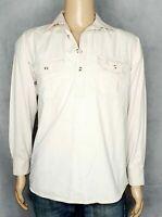 Brumby Cotton Half Button Shirt Mens M