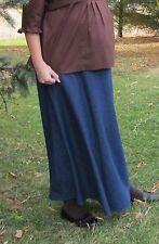 Maternity Skirt A-line navy blue jean denim cotton X- long modest S 6 8 tall