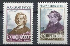28620) RUSSIA 1962 MNH** Nuovi** Dickens-Rousseau 2v
