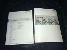 MS 460 MS460 Stihl Chainsaw Service Workshop Repair & Parts List Diagram Manual