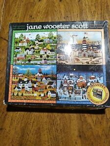 FOUR SEASONS GIFT COLLECTION Jane Wooster Scott ~ Four (500 Pc) Puzzles Ceaco