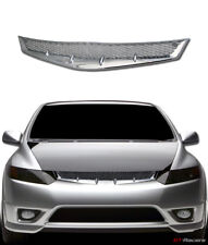 FOR 2006-2008 HONDA CIVIC COUPE JDM R CHROME MESH FRONT BUMPER GRILL GRILLE ABS
