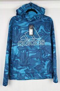 Adidas Boys' Warp Camo Hoodie Size XL 18-20 Sonic Aqua AA7214