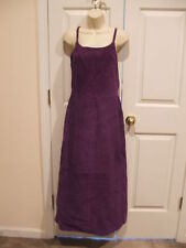 NWT $299 NEWPORT NEWS purple soft suede FULLY LINED long DRESS SLEEVELESS SIZE 8
