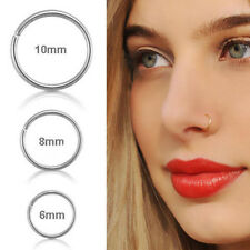UK Surgical Steel Thin Small Nose Ring Hoop 0.8mm Cartilage Piercing Studs