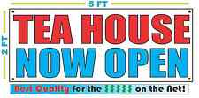 Tea House Now Open Banner Sign New 2x5