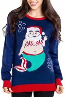 Women's Tipsy Women's Mermanta Ugly Christmas Sweater Medium