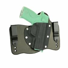 FoxX Leather & Kydex IWB Hybrid Holster S&W M&P 22 Compact Black Right Tuckable