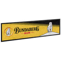 Bar Runner - Bundaberg Rum - Bar Mat - Bundy Rum - Black Version - BNWT