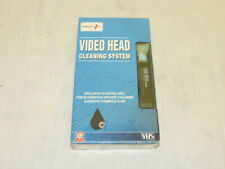 VHS VCR VIDEO HEAD CLEANER PLAYERS RECORDERS WET DRY SYSTEM CLEANING LIQUID NEW
