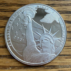 True Patriot Statue of Liberty Coin 1 Troy Oz .999 Fine Pure Silver Round Medal
