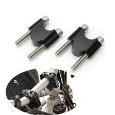 "Black CNC ATV 1 1/8"" 28mm Handlebar Riser Bracket for Honda TRX450 TRX400 TRX350"