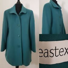 Ladies WOOL & CASHMERE Blend Green Coat Sz 12/14 EASTEX Winter Jacket
