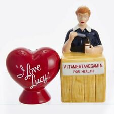 I Love Lucy Logo and Vitameatavegamin Salt and Pepper Shaker Set-New