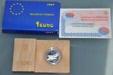 ESPAÑA. Año 1997. 1 EURO. Plata. Peso 6,70 gr. Emblema Ejército del Aire.
