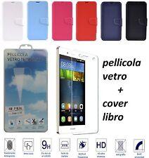 Cover a Libro Custodia HQ LATERAL per Huawei Ascend P8 NEWTOP Nero