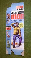 Vintage Action Man 40th Caja vacía para aventurero (sin Muñeco) paquete plano
