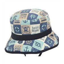 Dozer - Baby Boys Reversible 12-24 Months Jaxson Bucket Hat - Navy Blue Large
