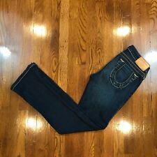 True Religion Women's Medium Dark Wash Boot Cut Jeans Sz 27 Distressed?