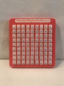 Vintage Educational Keyboard Multiplication-Push And See Times Tables & Answers