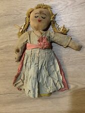 Antique Primitive TWO SIDED Homemade Doll