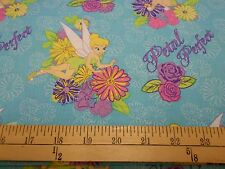 "2 yards Tinkerbell ""Petal Perfect Flower"" Fabric"