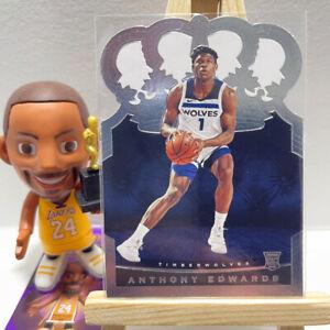 Rookie 2020-21 Panini Crown Royale Basketball Anthony Edwards NBA RC Card #89