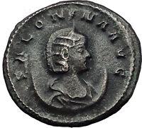 Salonina 260AD Authentic Original Genuine Ancient Roman Coin Ceres Rare i59018