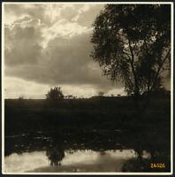 Larger size Vintage Photograph, landscape w clouds, water reflection, 1920'