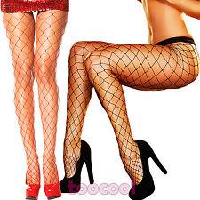 Collant donna rete larga sexy lingerie intimo diamond calze nuove DL-2073
