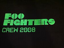 FOO FIGHTERS 2008 Tour Local Crew T Shirt Black XL