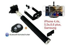 IPHONE 5S 6 6s 7 PLUS Asta per selfie + Bluetooth Scatto Remoto Telescopico