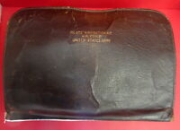 U.S. ARMY AIR FORCES PILOT'S LEATHER ZIPPERED NAVIGATION CASE