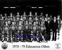WHA 1978 - 79 Edmonton Oilers Team Picture Last WHA Season Gretzky 8 x 10 Photo