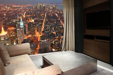 VIEW from EMPIRE STATE BUILDING Photo Wallpaper Wall Mural MANHATTAN at NIGHT!