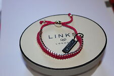 GENUINE LINKS OF LONDON STERLING SILVER 35 BAR PINK FRIENDSHIP BRACELET