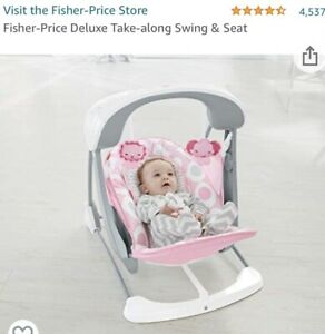 Fisher Price Baby Deluxe Take Along Swing Seat Brand New In Opened box